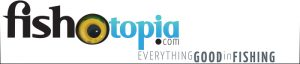 Fishotopia logo with keyline in blue andblack