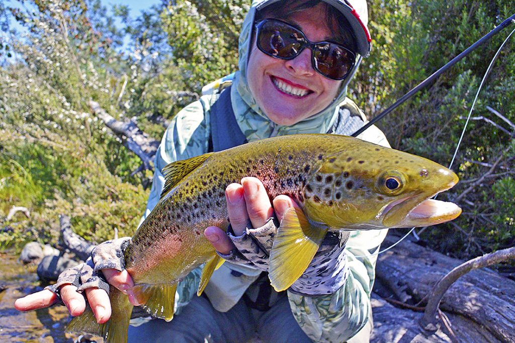 My smile in 2016 says it all! I've just successfully landed a stunning brown trout in