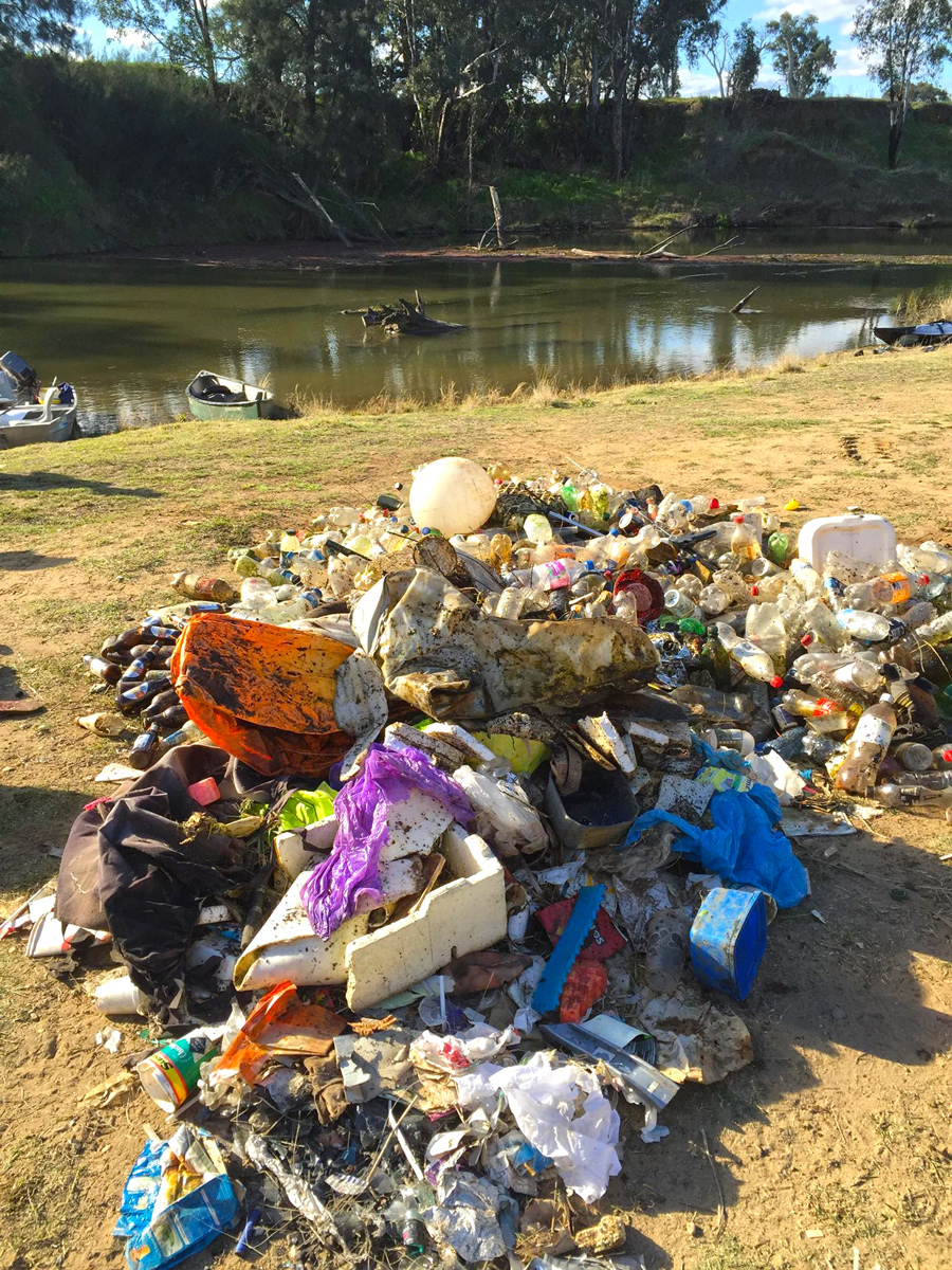 Litter left on any river or road in Australia will end up in the ocean. Theres no excuse and every human has a responsibility.