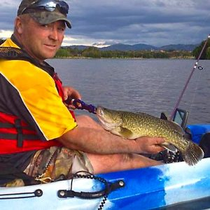 Inner Circle member, James Reeve, with a Murray cod he caught from his kayak.