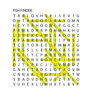 fishotopia kids fishing activity - word search fish finder answer