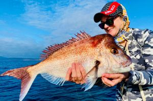 The author, Jo Starling with a lovely 60cm pink snapper from southern NSW.