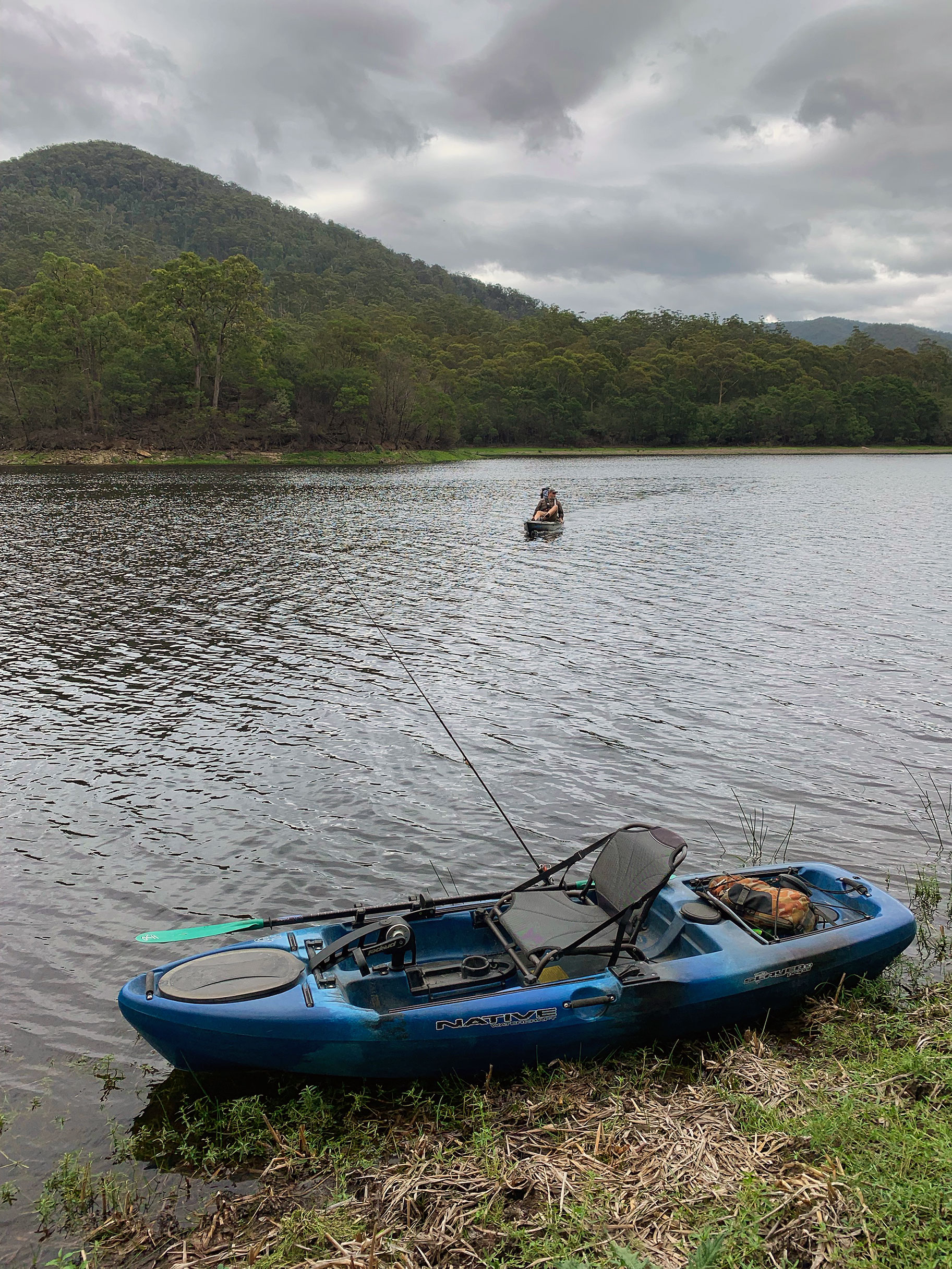 Kayaks are perfect for exploring and fishing Brogo Dam.