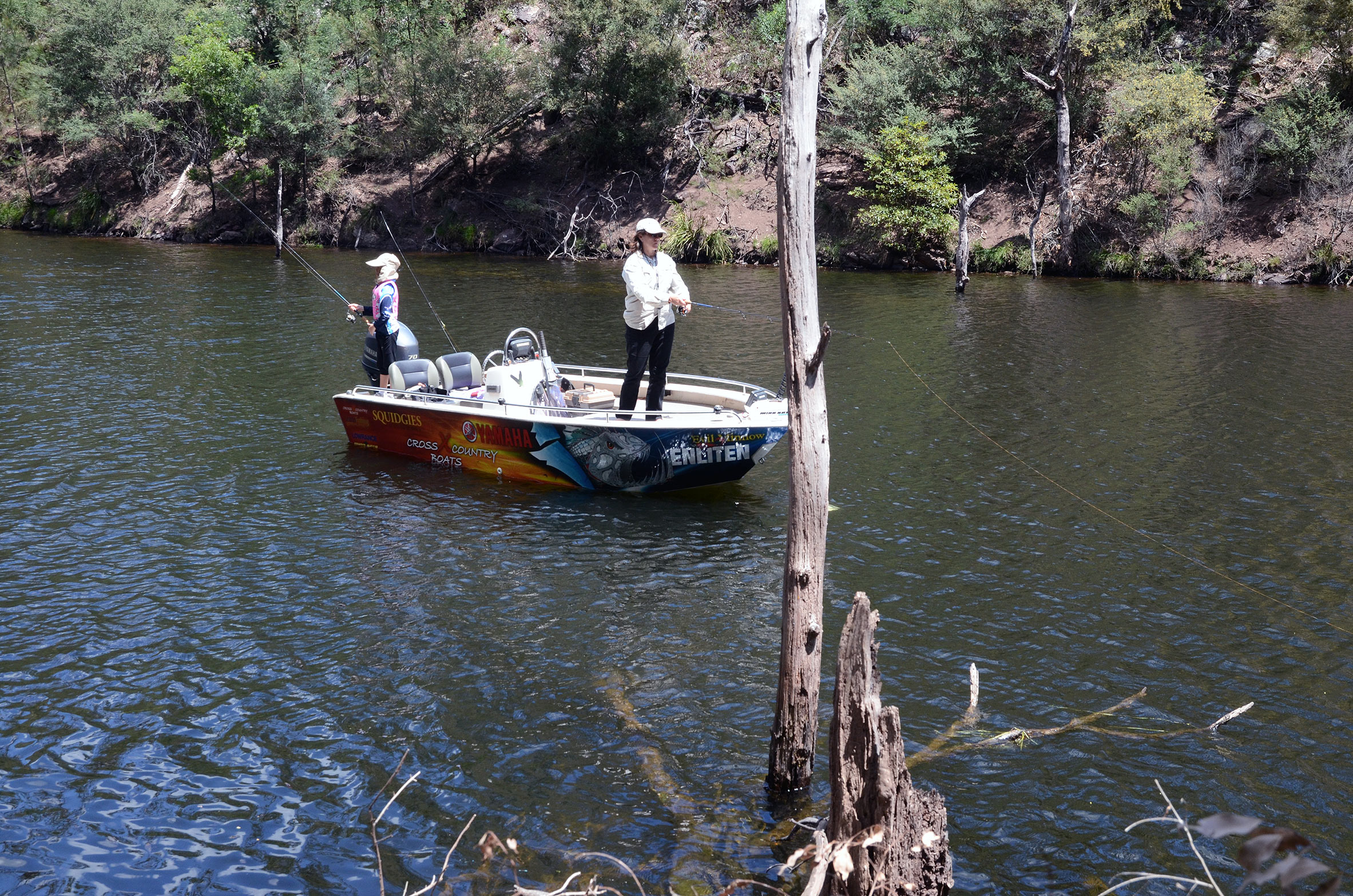 There's plenty of bank-side structure to fish, regardless of the water level.