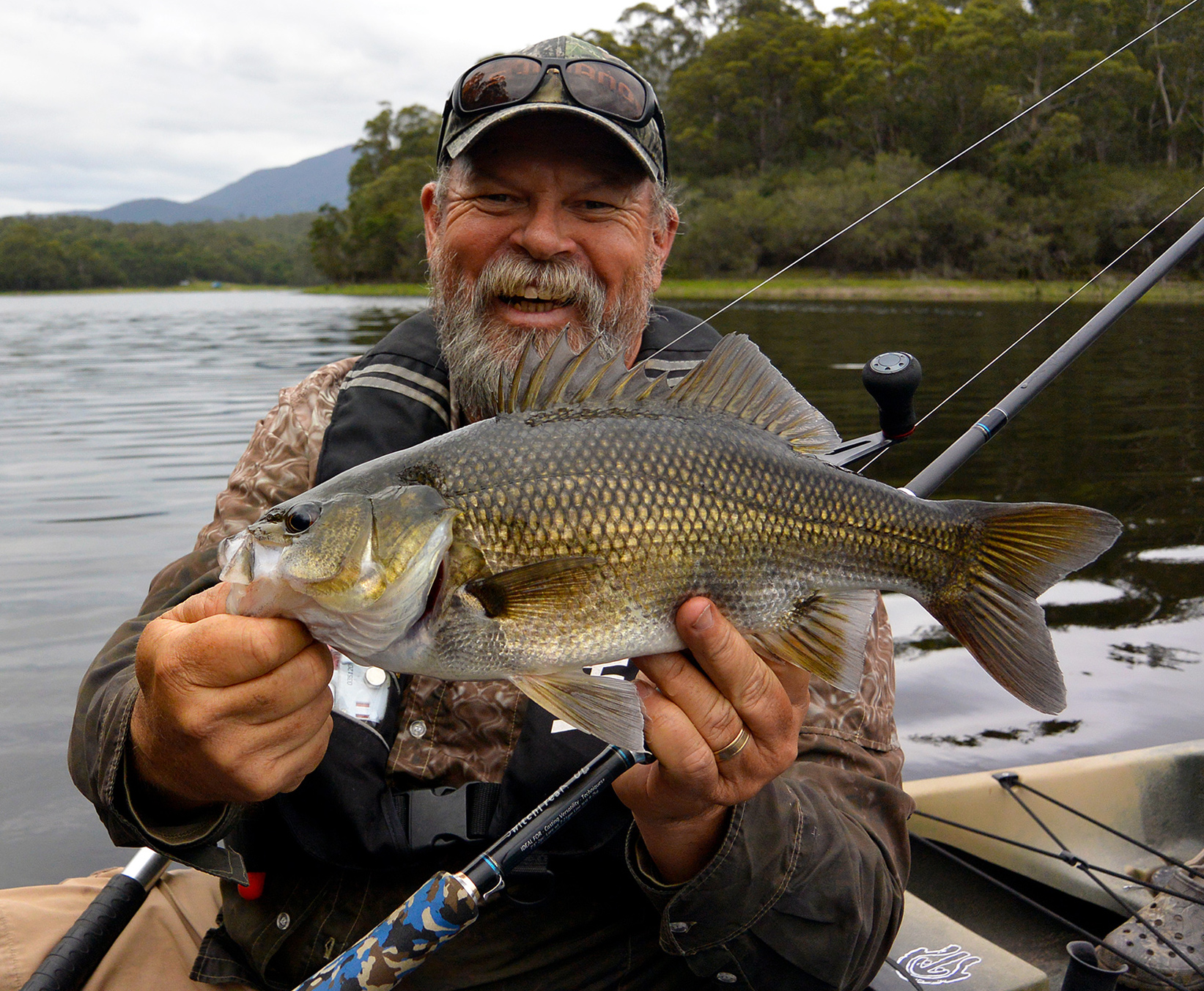 While 20 to 30 cm fish often dominate catches, some days you'll encounter fish in the high 30s and low 40s on a reasonably regular basis... and they all pull hard!